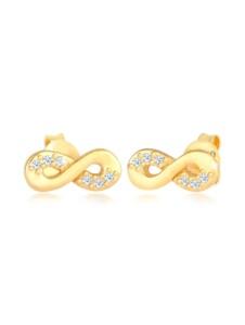 Ohrringe Infinity Diamant 0.06 Ct. Liebe 585 Gelbgold DIAMORE Gold