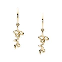 Ohrringe Love für Damen aus Edelstahl, vergoldet