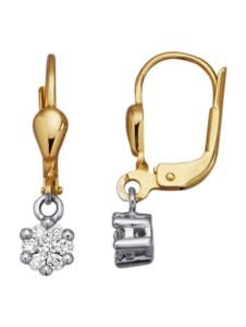 Ohrringe mit Brillanten Diemer Diamant Weißgoldfarben