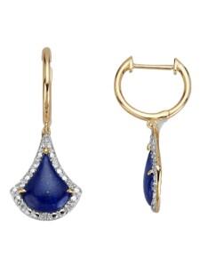 Ohrringe mit Lapislazuli Diemer Farbstein Blau