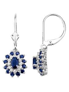 Ohrringe mit Saphiren Diemer Farbstein Blau