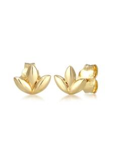 Ohrringe Ohrstecker Blatt Leaf Floral Zart 585Er Gelbgold Elli Premium Gold