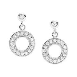 Ohrringe Open Disc für Damen aus 925er Silber