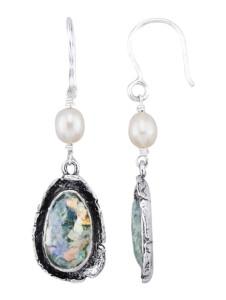 Ohrringe Roman Glass Silberfarben