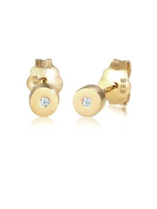 Ohrringe Stecker Geo Basic Diamant (0.01 Ct.) 585 Gelbgold DIAMORE Gold