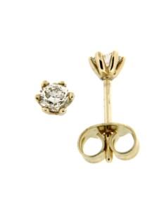 Ohrstecker 585/- Gold Brillant weiß Brillant 0,4cm Glänzend 0.3000 Karat Orolino gelb