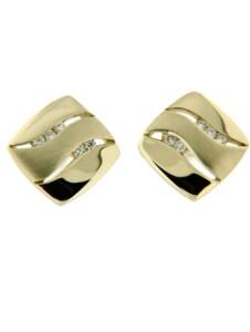 Ohrstecker 585/- Gold Brillant weiß Brillant 1,0cm Glänzend 0.0500 Karat Orolino Silbergrau