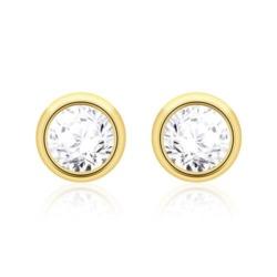 Ohrstecker aus 585er Gold mit Diamanten