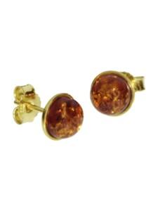 Ohrstecker – Classic 7 mm – Gold 585/000 – Bernstein OSTSEE-SCHMUCK gold