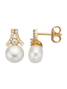 Ohrstecker Diemer Perle Weiß