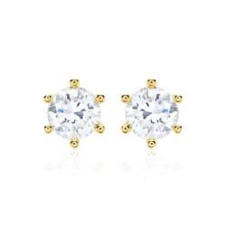Ohrstecker für Damen aus 14K Gold mit Diamanten