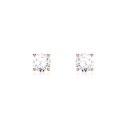 Ohrstecker für Damen aus 585er Roségold mit Diamanten