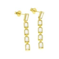 Ohrstecker für Damen aus vergoldetem 925er Silber