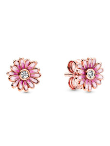 Ohrstecker-Gänseblume- Pandora Rosé