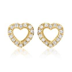 Ohrstecker Gelbgold 14k 28 Diamanten 0,1ct.