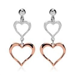 Ohrstecker Herzen aus 925er Silber rosé