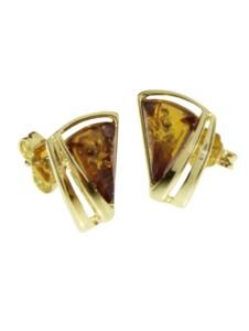 Ohrstecker – Ilga – Gold 585/000 – Bernstein OSTSEE-SCHMUCK gold