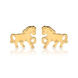 Ohrstecker Kinder 333er Gold Pferde