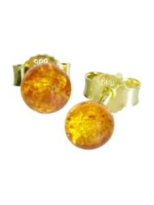 Ohrstecker – Klassisch 6 mm – Gold 585/000 – Bernstein OSTSEE-SCHMUCK gold