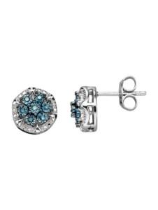 Ohrstecker mit blauen Diamanten Diemer Trend Blau