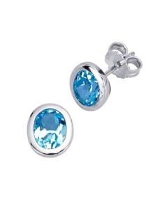 Ohrstecker mit Blautopasen Gemondo Blau