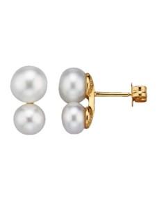 Ohrstecker mit Süßwasserzuchtperlen Diemer Perle Weiß