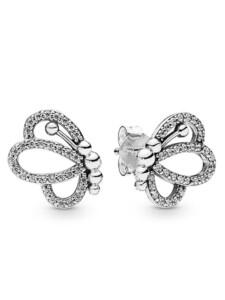 Ohrstecker -Schmetterlinge- Pandora Silberfarben