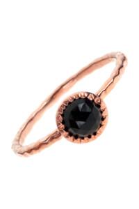Onyx Ring rosé vergoldet