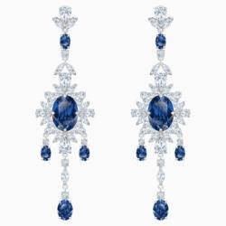 Palace Chandelier Ohrringe, blau, Rhodiniert