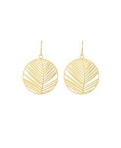 PALM LEAF|Ohrringe Gold
