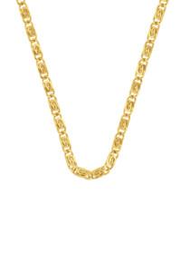 PAPERCLIP CHAIN Halskette gelb vergoldet