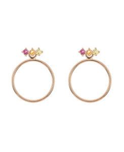 PASTEL CIRCLE|Ear Jackets Rosé