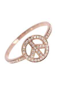 PEACE Diamant Ring Roségold