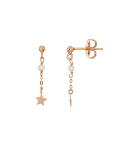 PEARLY STAR|Ohrstecker Rosé