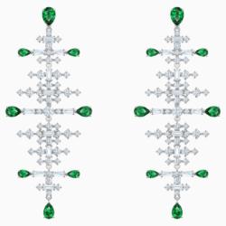 Perfection Chandelier Ohrringe, grün, Rhodiniert