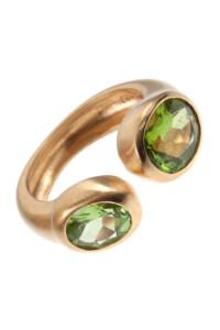 Peridot Ring vergoldet