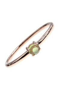 Peridot Stacking Ring rosé vergoldet