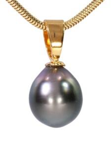 Perle Anhänger 925 Silber 1001 Diamonds grau