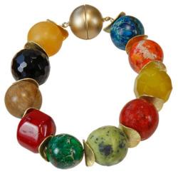 Perlenarmband 'Blumenwiese', Schmuck