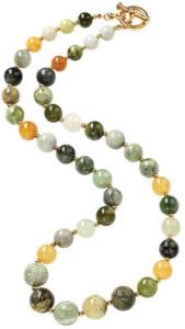 Perlencollier 'Green Magia', Collier, Schmuck