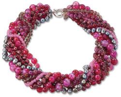 Perlencollier 'Red Hot', Collier, Schmuck
