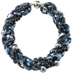 Perlencollier 'Splendid Blue', Collier, Schmuck