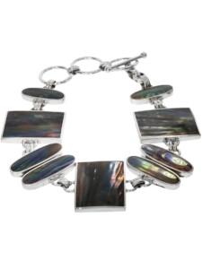 Perlmutt Armband 925 Silber bunt 1001 Diamonds bunt