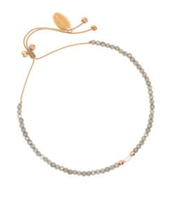 PETITE PEARL|Armband Grau