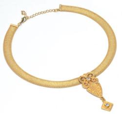 Petra Waszak: Collier 'Goldblüte', Collier, Schmuck