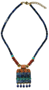 Petra Waszak: Collier 'Hathor', Collier, Schmuck
