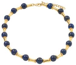 Petra Waszak: Collier 'Pharao blau' mit Lapislazuli, Collier, Schmuck