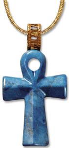 Petra Waszak: Großer Lebenskreuz-Anhänger mit Halskette
