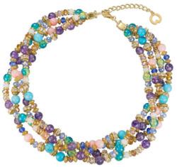 Petra Waszak: Perlencollier 'Colorido', Collier, Schmuck