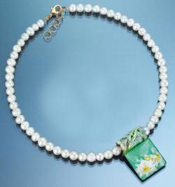Petra Waszak: Perlencollier 'Seerosen', Schmuck